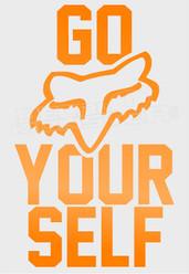 Go Fox Your Self Decal Sticker