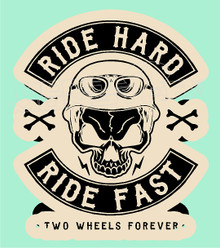 Ride Hard Ride Fast Skull Decal Sticker
