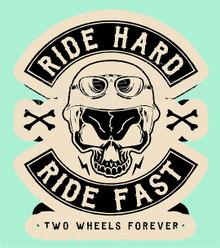 Ride Hard Ride Fast Skull Decal Sticker