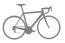 Cyclist Bike Silhouette Decal Sticker