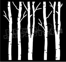 Birch Tree Silhouette Decal Sticker
