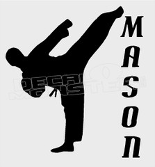 Karate Kid Mason Leave your Text in the Comments Decal Sticker