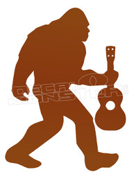 Sasquatch Ukelele Silhouette Decal Sticker