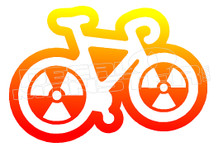 Radioactive Bike Silhouette Decal Sticker