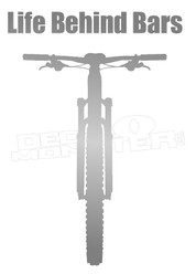 Mountain Bike Life Behind Bars Decal Sticker
