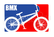 Professional BMX Logo Decal Sticker
