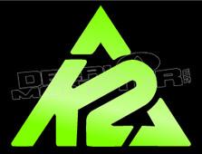 K2 Mountain Style Decal Sticker