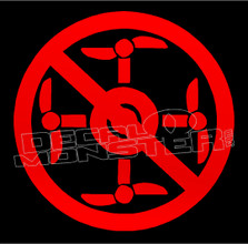 No Drone Zone Decal Sticker