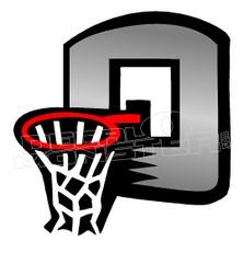 Basketball Hoop Silhouette Decal Sticker