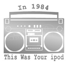 1984 Ipod Decal Sticker