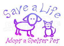 Adopt a Pet Motivation Decal Sticker
