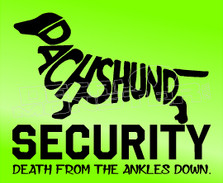 Dachsund Security Decal Sticker