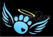 Angel Cat Paw Decal Sticker