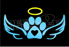 Angel Dog Paw Decal Sticker