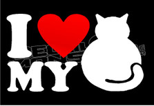 I Heart my Fat Cat Decal Sticker