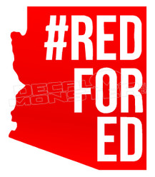 Red for Ed Decal Sticker