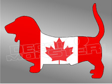 Canadian Dachshund Decal Sticker