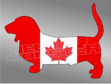 Canadian Dachshund Decal Sticker