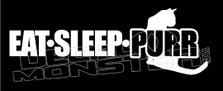 Eat Sleep Purr Decal Sticker