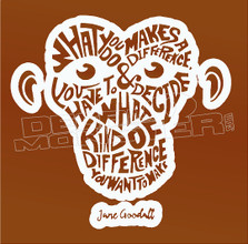Monkey Make a Difference Quote Decal Sticker