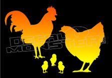 Chicken Family Decal Sticker