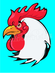 Serious Rooster Decal Sticker