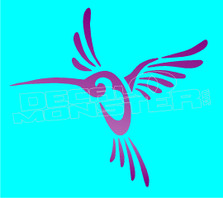 Tribal Hummingbird Decal Sticker