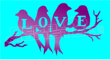 Love Birdies Decal Sticker