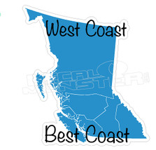 West Coast Best Coast Decal Sticker