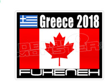 Greece 2018 FuckenEh Decal Sticker