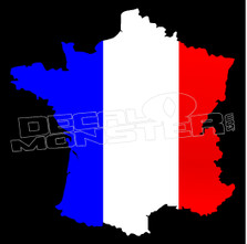 France Country Outline Decal Sticker