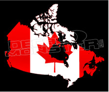 Canada Country Outline Decal Sticker