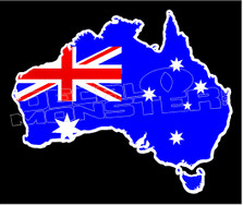 Australia Country Outline Decal Sticker