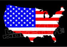 USA Country Outline Decal Sticker
