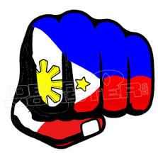 Philippines Fist Decal Sticker