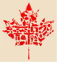 Canada Camping Leaf Decal Sticker