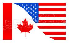 Canada USA Business Decal Sticker