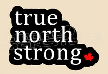 Canada True North Strong Outline Decal Sticker