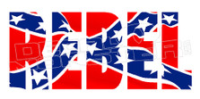 Confederate Rebel Flag Decal Sticker