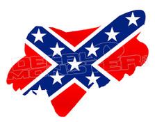 Confederate Rebel Flag Fox Decal Sticker