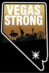 Vegas Strong Shooting Tradjedy Support Decal Sticker