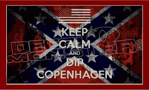 Confederate Keep Calm And Dip Copenhagen Decal Sticker