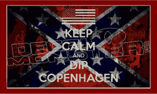 Confederate Keep Calm and Dip Copenhagen Decal Sticker