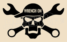 Mechanic Wrench On Decal Sticker