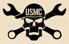 Mechanic USMC Decal Sticker DM