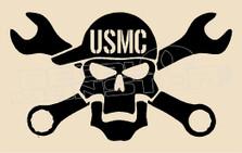 Mechanic USMC Decal Sticker DM