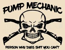 Pump Mechanic 1 Decal Sticker