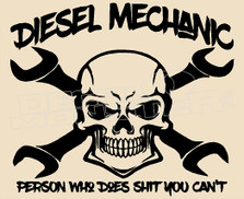 Diesel Mechanic 1 Decal Sticker