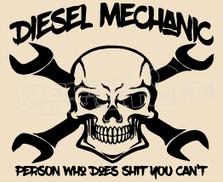 Diesel Mechanic 1 Decal Sticker