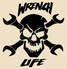 Mechanic Wrench Life 1 Decal Sticker
